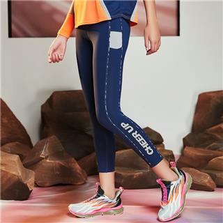 【流灵】特步 女子紧身裤 新款跑步裤运动裤瑜伽裤紧身裤子880228890238