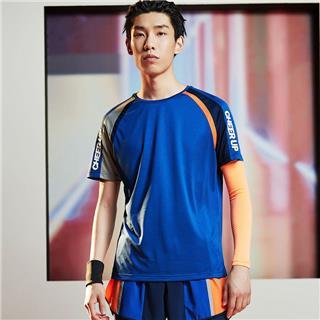 【流灵】特步 男子短袖 20年夏新款拼色健身运动T恤880229010227