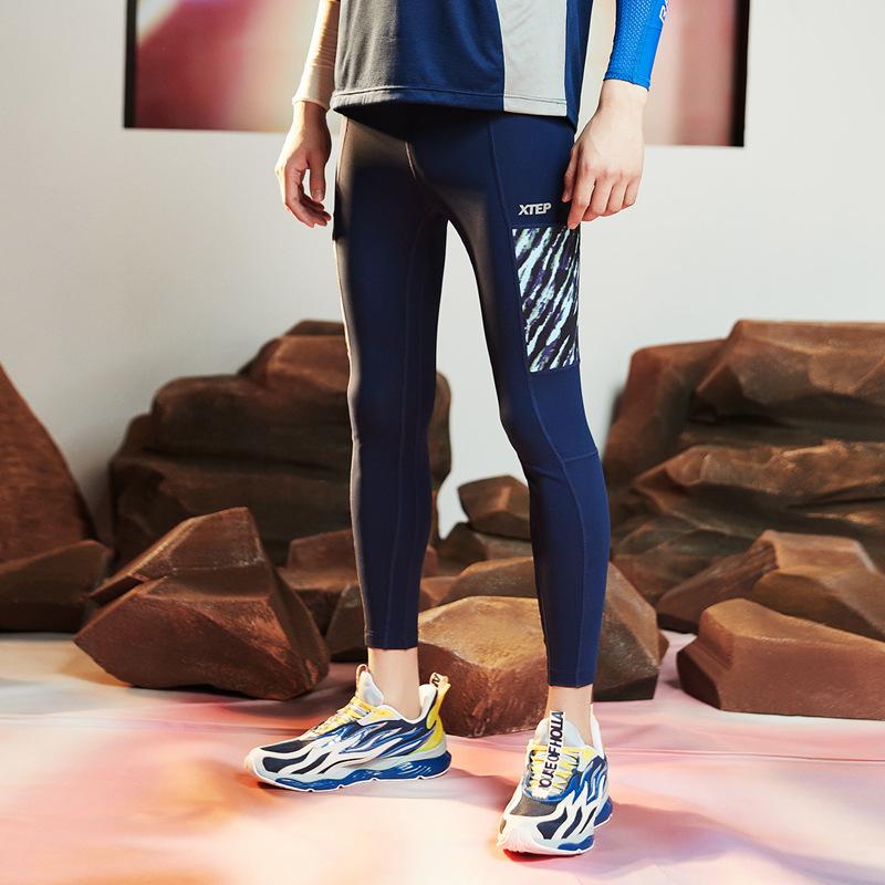 【流灵】特步 男子专业紧身裤 20年夏新款弹力运动长裤880229890232