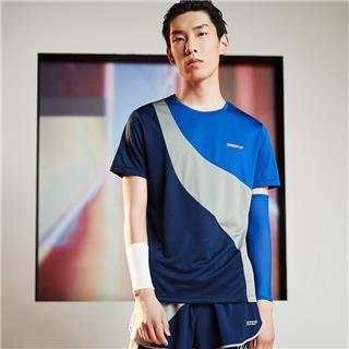 【流灵】特步 男子短袖 20年夏新款撞色跑步运动T恤880229010226
