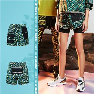 【流灵】特步 专柜款 女子短裤 2020夏新款运动中裤透气短裤荷兰屋联名款跑步短裤女981428240543