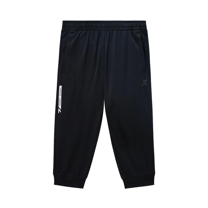 特步 专柜款 男子综训七分裤 新款时尚百搭舒适透气针织短裤980229620115
