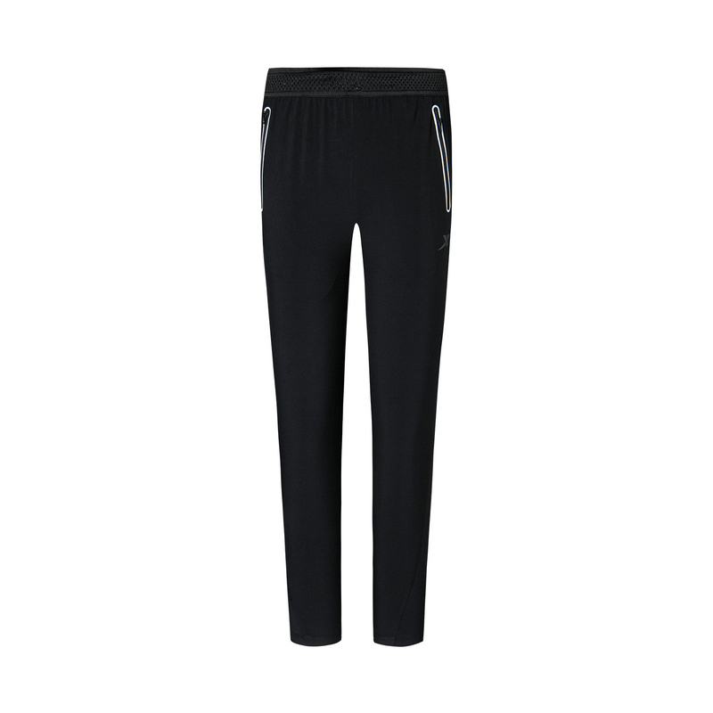 特步 专柜款 女子梭织九分裤 20年新款简约运动长裤980128690438