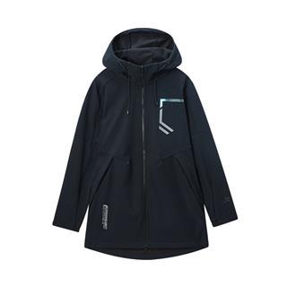 特步 专柜款 男子保暖风衣 20年新款连帽运动拉链外套980129160364