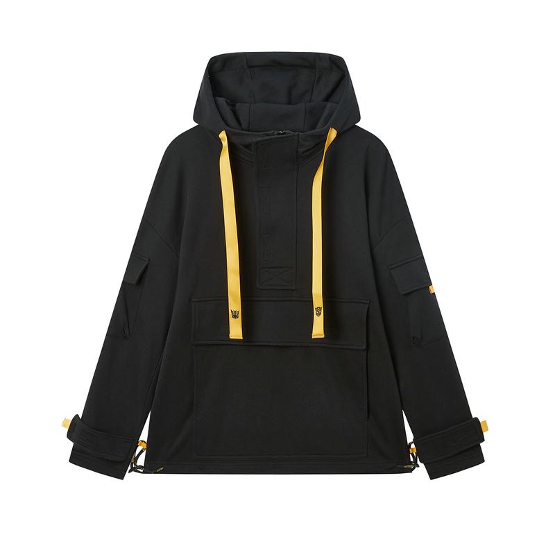 【变形金刚联名款】特步 专柜款 男子卫衣 20年新款连帽口袋套头衫980129930459