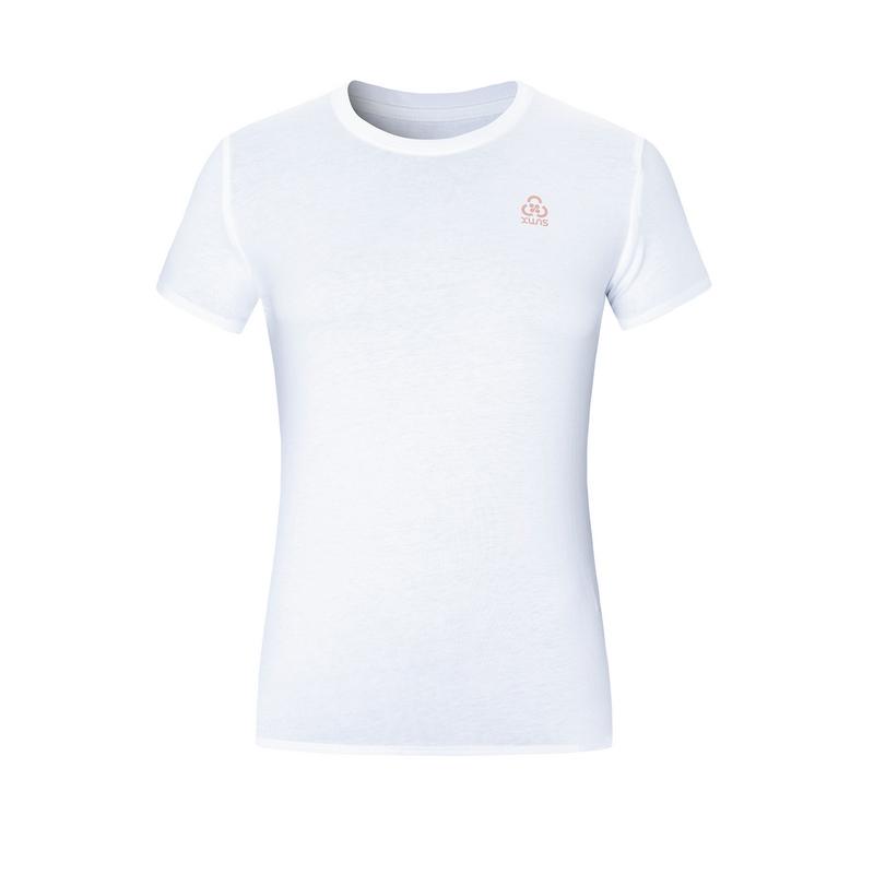 特步 专柜款 女子短袖针织衫 20年夏新款纯色圆领运动T恤980228010400