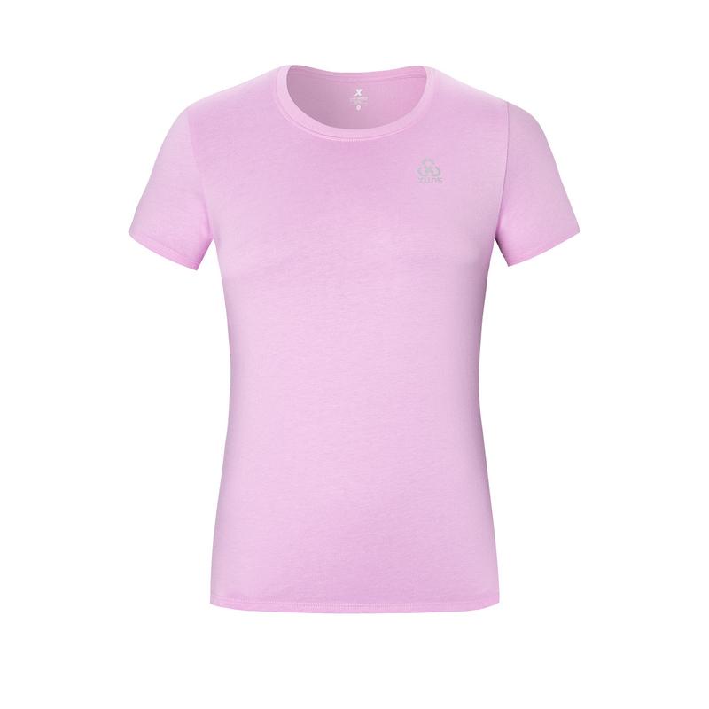 特步 专柜款 女子短袖针织衫 夏新款纯色圆领运动T恤980228010400