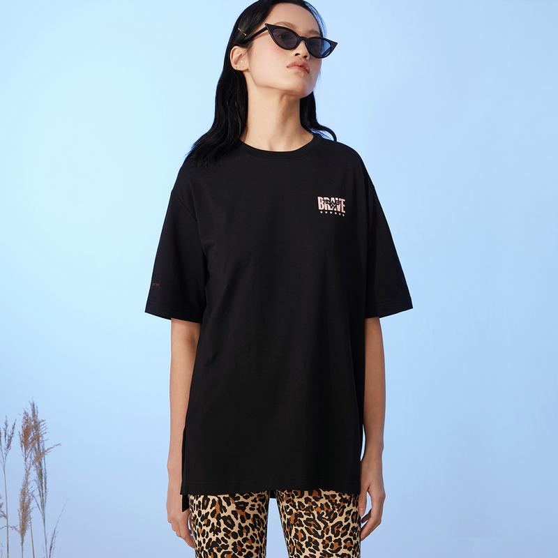 特步 女子跨界潮流短袖 时尚简约百搭短袖针织衫880228010084