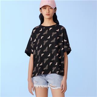 【神奇女侠联名款】特步 女子跨界短款针织衫 潮流时尚百搭短袖T恤880228010127