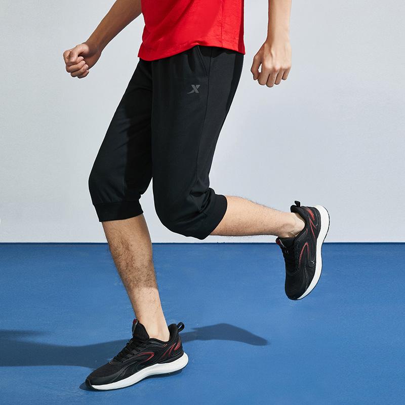 特步 男子针织七分裤 夏季新款舒适百搭运动休闲短裤880229620110