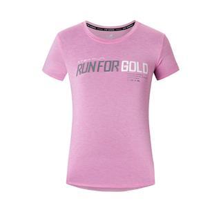 特步 专柜款 女子短袖针织衫 20夏季新款运动上衣透气短袖980228010464