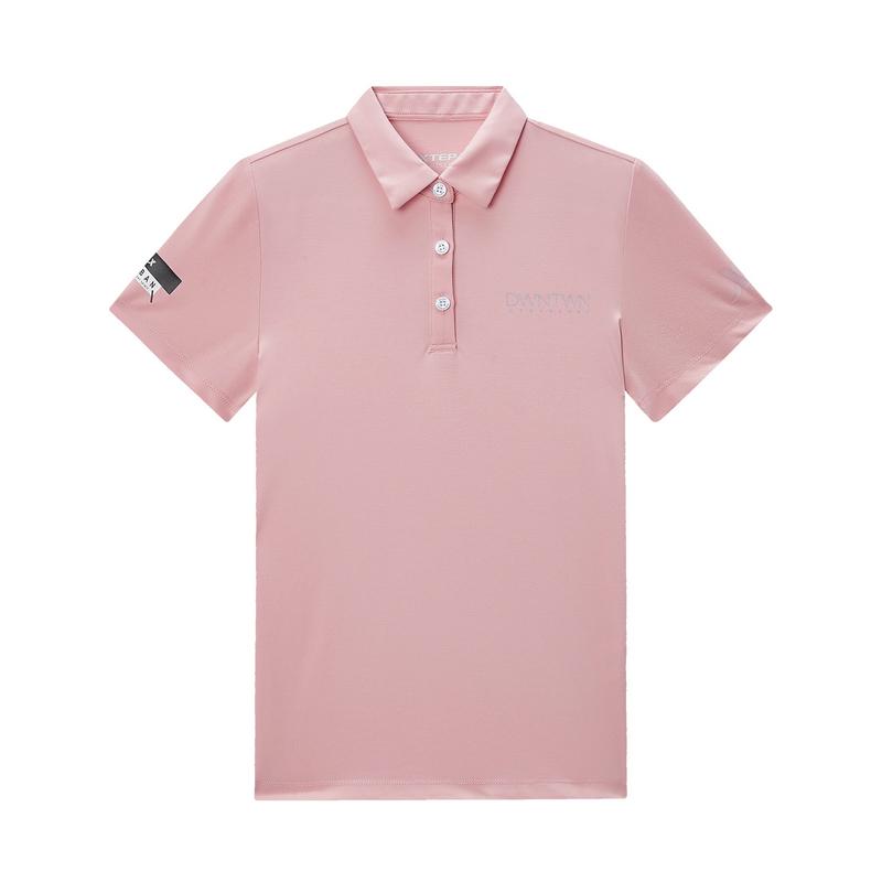 特步 专柜款 女子短袖 20夏季新款休闲短袖POLO衫980228020165