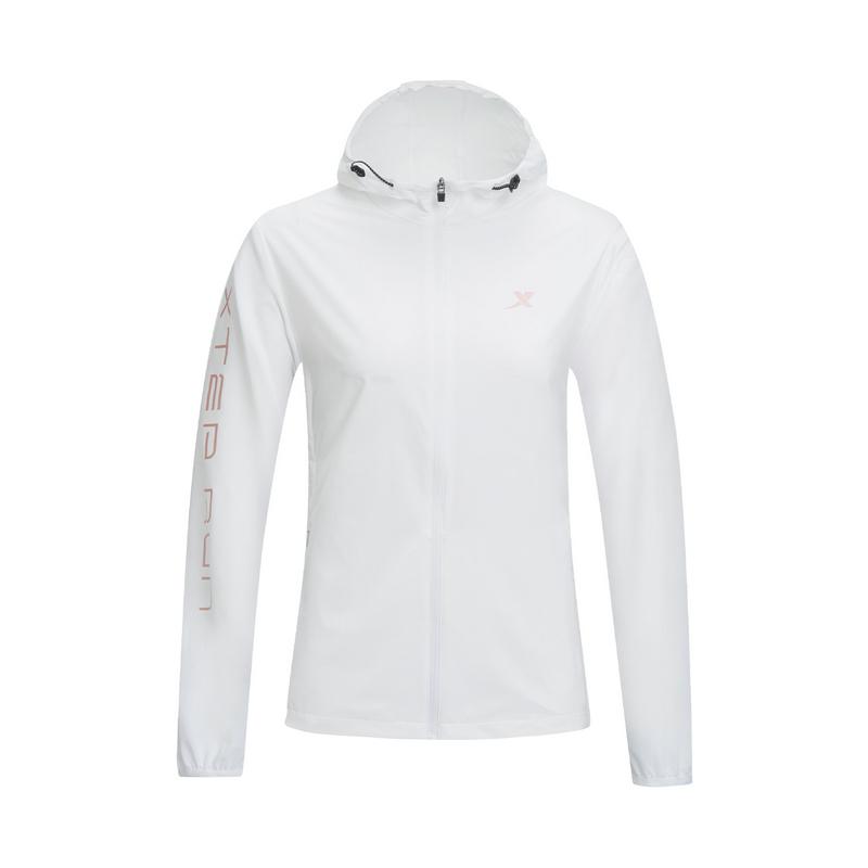 特步 专柜款 女子风衣 20夏季新款运动休闲单风衣上衣980228140328