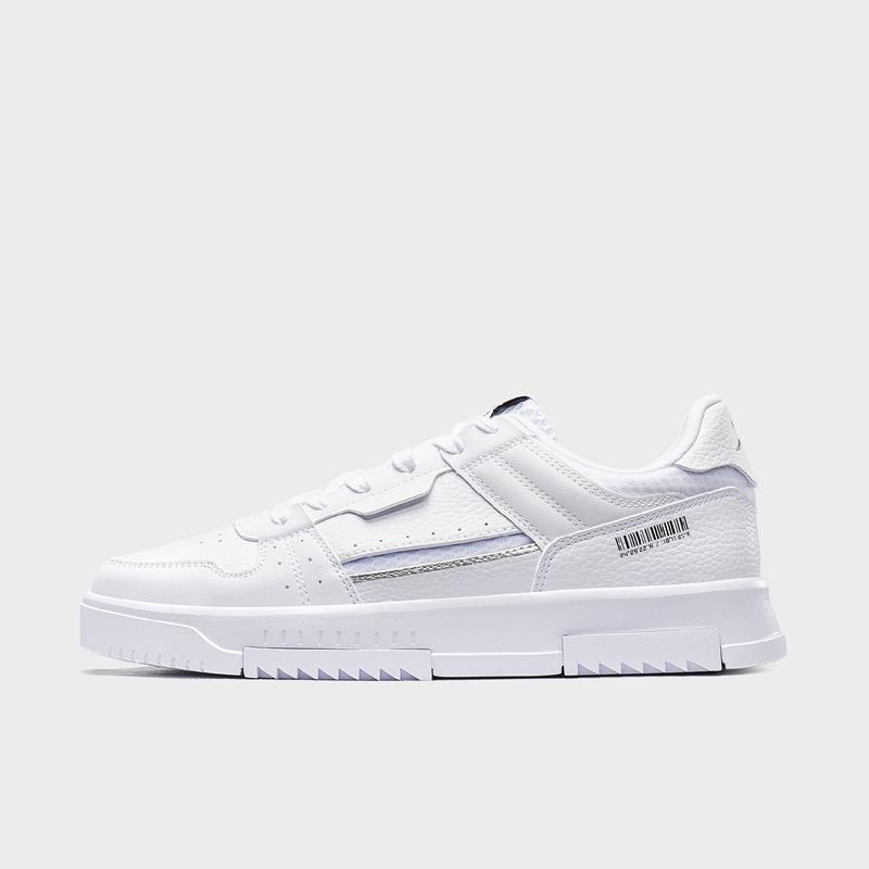 特步 专柜款 男子板鞋 20年夏新款革面时尚小白鞋980219316637