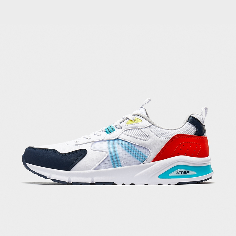 特步 专柜款 男子休闲鞋 20年夏新款休闲网面运动鞋980219320370
