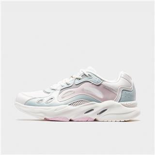 特步 专柜款 女子休闲鞋 20年夏新款网面拼色老爹鞋980218320201