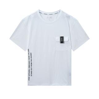特步 专柜款 男子都市休闲短袖 新款潮流时尚百搭短T980229010140