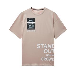 特步 专柜款 男子圆领短袖针织衫 新款都市休闲透气百搭T恤980229010149