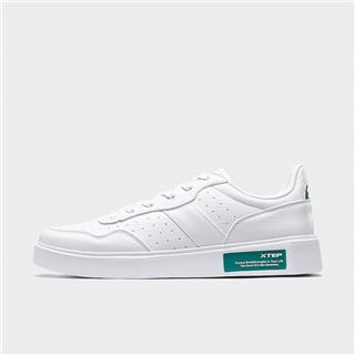 特步 专柜款 男子板鞋 20年新款百搭简约小白鞋980219316616