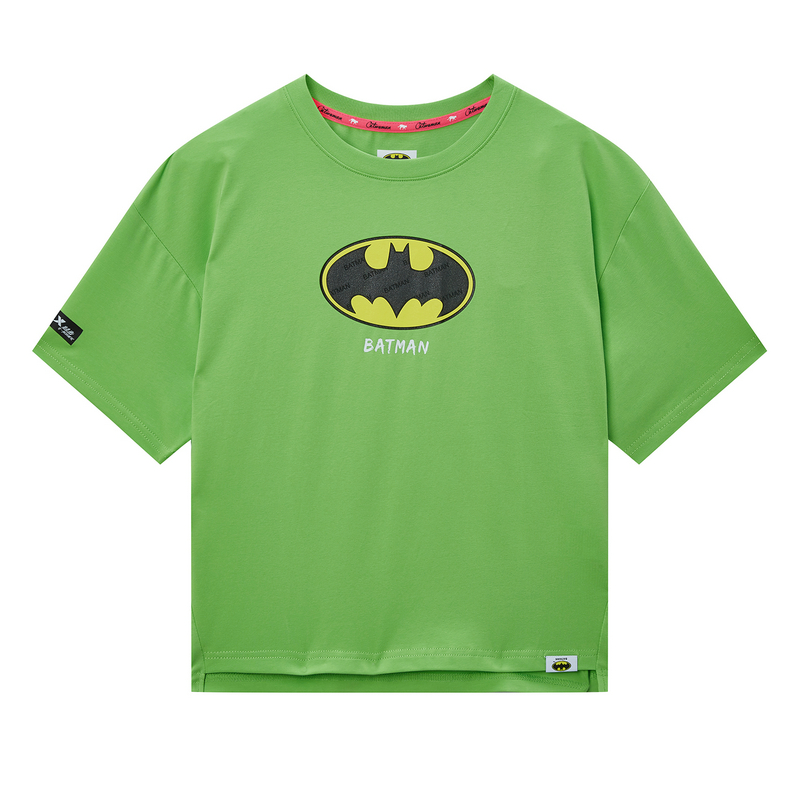 【蝙蝠侠联名款】特步 专柜款 女子短袖针织衫 20年新款时尚街头T恤980228010264