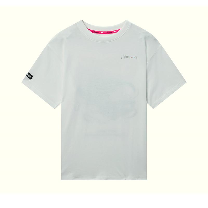 【蝙蝠侠联名款】特步 专柜款 女子短袖针织衫 20年夏新款时尚印花T恤980228010270