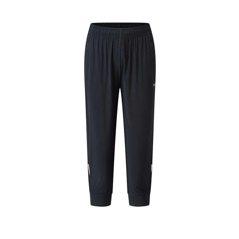 特步 专柜款 女子针织七分裤 20年夏新款健身运动长裤980228620427