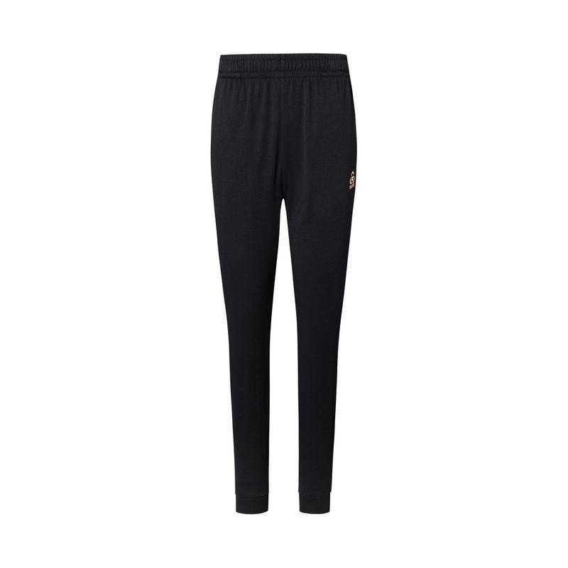特步 专柜款 女子针织长裤 20年新款简约健身运动裤980228630403