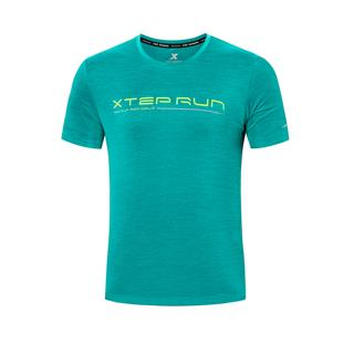 特步 专柜款 男子短袖 夏季新款跑步运动舒适透气短袖针织衫980229010358