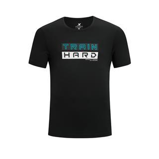 特步 专柜款 男子短袖 综训运动舒适透气百搭T恤针织衫980229010448