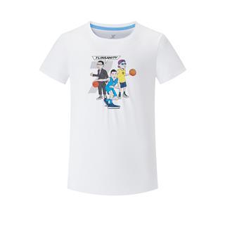 特步 专柜款 男子短袖 新款篮球运动时尚百搭透气吸汗短袖针织衫980229010538