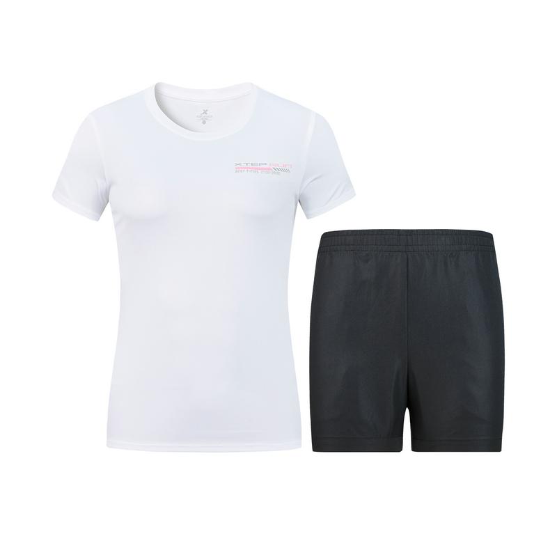 特步 女子套装 20年新款运动服透气休闲2件套880228950181