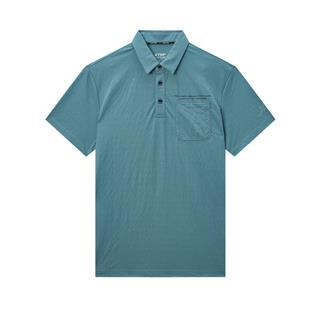特步 专柜款 男子OPLO衫 都市时尚百搭休闲短袖针织衫980229020133
