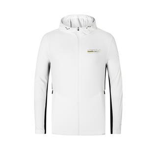 特步 专柜款 男子单风衣 跑步运动连帽舒适透气外套风衣980229140333