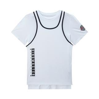 特步 专柜款 男子篮球针织两件套 新款运动短袖背心两件套980229410552