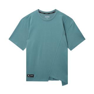 特步 专柜款 男子都市休闲T恤 潮流时尚不规则百搭短袖针织衫980229010154
