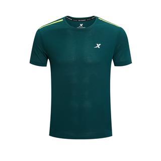 特步 专柜款 男子短袖 新款跑步运动透气吸汗短袖针织衫980229010337
