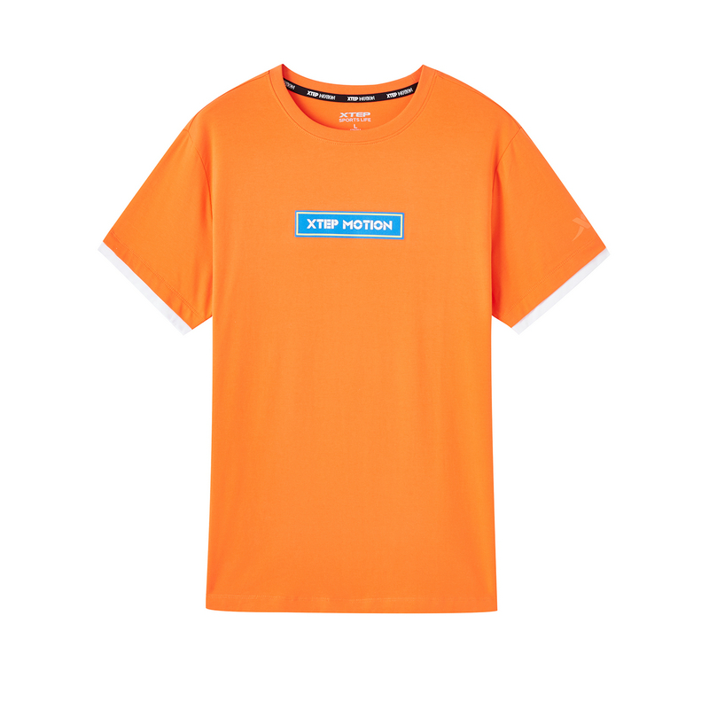 特步 专柜款 男子短袖 新款活力时尚百搭圆领短袖针织衫980229010048