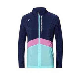 特步 专柜款 女子单风衣 新款拉链运动跑步外套980128140300