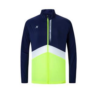 特步 专柜款 男子单风衣 新款拉链跑步运动外套980129140324