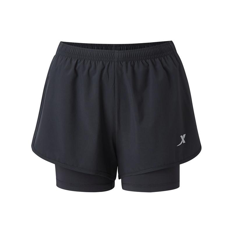 特步 专柜款 女子短裤 新款跑步运动舒适透气梭织短裤980228240304