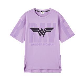 【神奇女侠联名款】特步 专柜款 女子短袖 夏季新款潮流都市时尚圆领针织衫980228010186