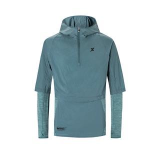 特步 专柜款 男子运动两件套 新款连帽跑步风衣外套980129760432