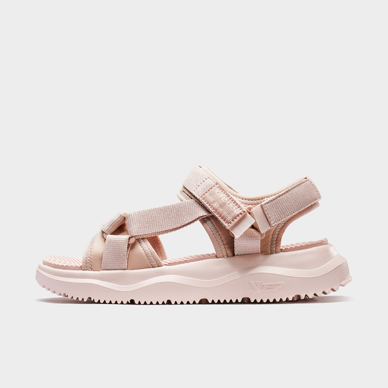 特步 专柜款 女子凉鞋 新款魔术贴时尚轻便沙滩鞋980218171666
