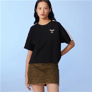 【神奇女侠】特步 女子短袖 20年新款时尚透气T恤上衣880228010035