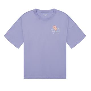 特步 女子短袖 20年新款印花宽松T恤上衣880228010222