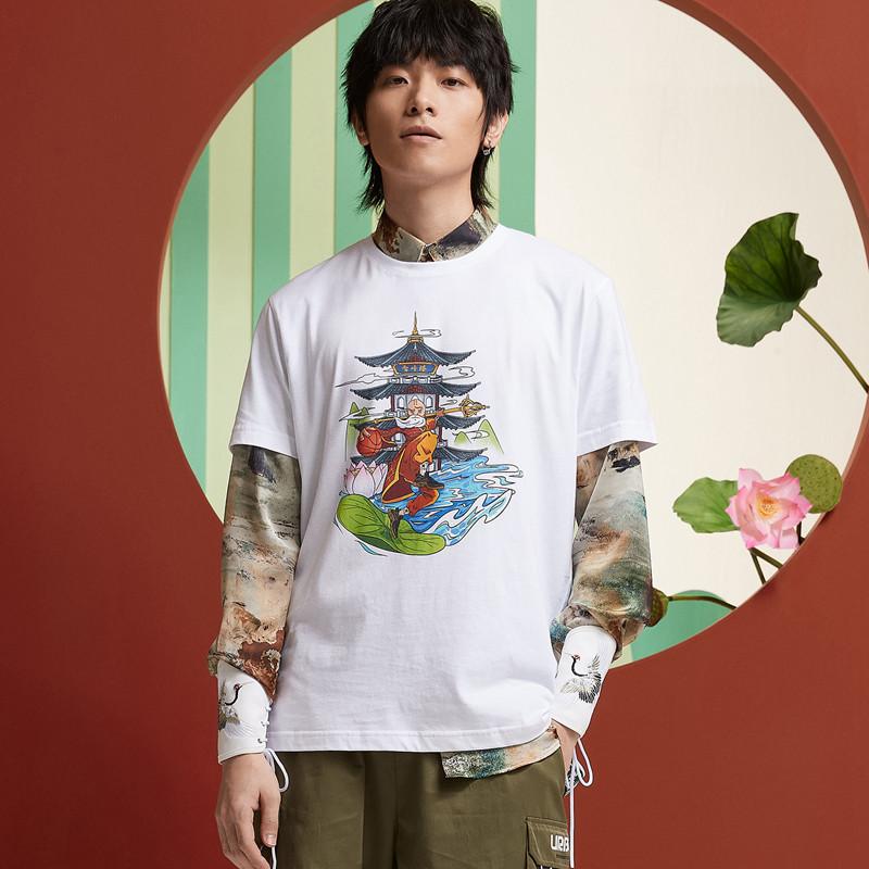 【攻城记系列】特步 男女短袖 新款杭州定制款情侣款T恤880227010309