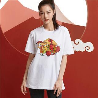 【攻城记系列】特步 男女短袖 新款沈阳定制款情侣款T恤880227010309