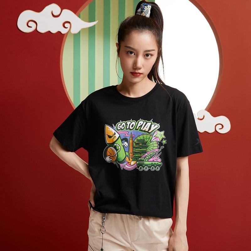 【攻城记系列】特步 男女短袖 新款南昌定制款情侣款T恤880227010309