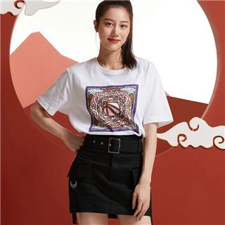 【攻城记系列】特步 男女短袖 新款乌鲁木齐定制款情侣款T恤880227010309