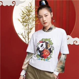 【攻城记系列】特步 男女短袖 新款成都定制款情侣款T恤880227010309